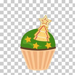 Christmas Cake Cupcake Birthday Cake Cartoon PNG