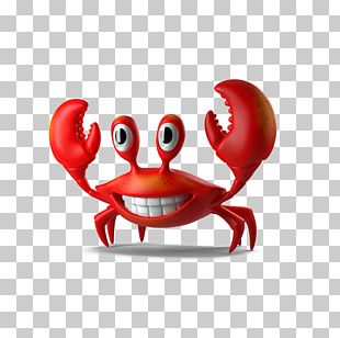 Crab Cartoon Illustration PNG