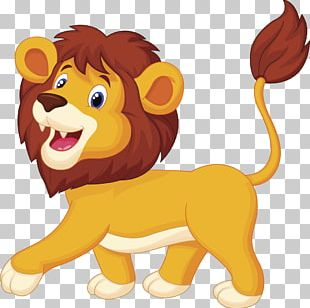 Lion Cartoon Animation PNG
