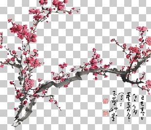 Plum Blossom Chinese Painting Cherry Blossom Drawing PNG