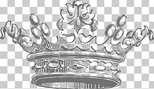 Crown Vecteur Black And White PNG