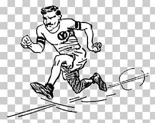 Illustration Marathon Running Cartoon PNG