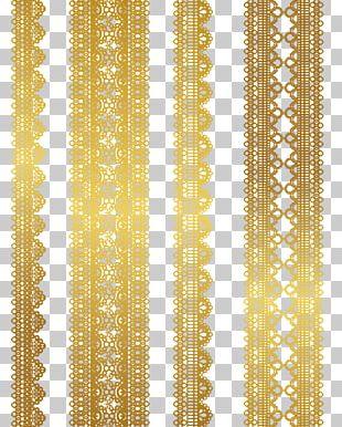 Lace Gold Euclidean Textile PNG