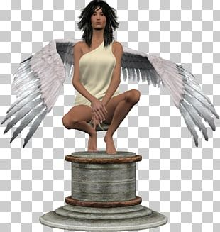 Sculpture Figurine Angel M PNG