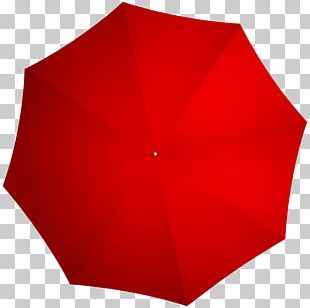 Red Angle Umbrella Design PNG