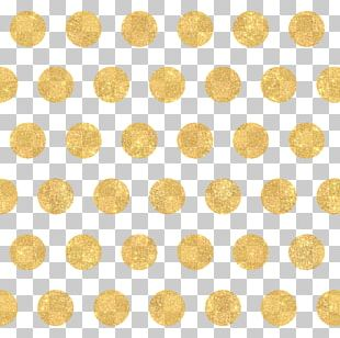 Polka Dot Gold Circle Pattern PNG