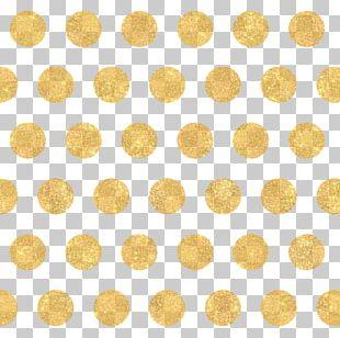 Polka Dot Gold Circle Pattern PNG