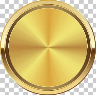 Golden Circle Disk PNG