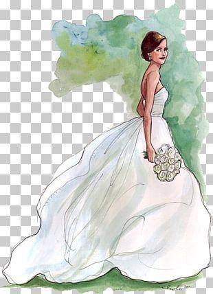 Bride Drawing Wedding Fashion Illustration PNG