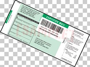 Certified Mail United States Postal Service Return Receipt Label PNG