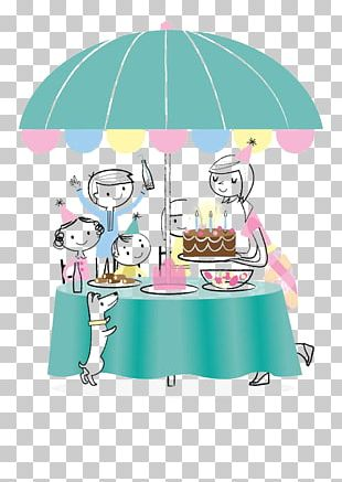 Birthday Cake Party Greeting Card PNG