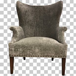 Wing Chair Club Chair Furniture Foot Rests PNG