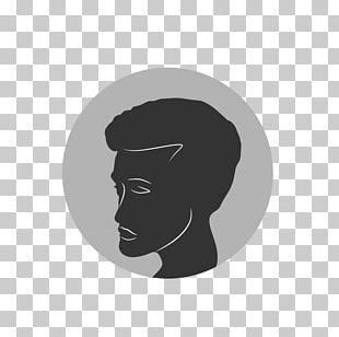 Portrait Of A Man (Self Portrait?) Silhouette Logo Font PNG