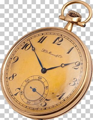Copper Gold Pocket Watch Clock PNG