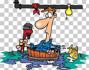 Leak Plumber Cartoon Plumbing PNG