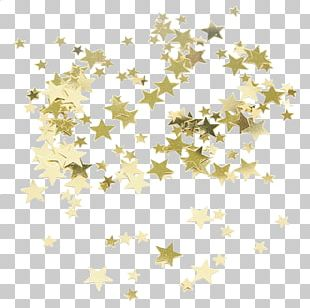Star Gold Confetti PNG