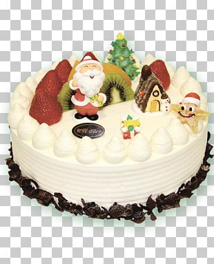 Christmas Cake Poster PNG