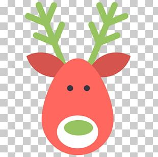 Grass Reindeer Christmas Ornament PNG