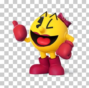 Ms. Pac-Man Super Smash Bros. For Nintendo 3DS And Wii U Pac-Man & Galaga Dimensions Super Pac-Man PNG
