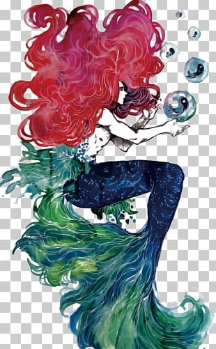 Ariel The Little Mermaid Illustration PNG