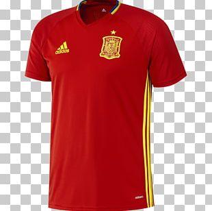2018 World Cup Spain National Football Team T-shirt Jersey PNG