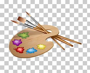 Painting Palette Brush PNG