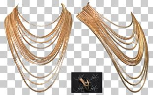 Earring Necklace Jewellery Chain Gold PNG