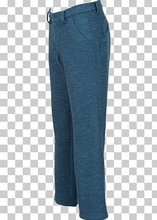 Jeans Cobalt Blue Denim Waist Pants PNG