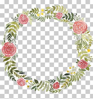 Watercolor Painting Wreath PNG