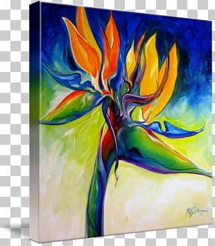 Bird-of-paradise Bird Of Paradise Flower Painting Art PNG