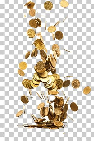 Gold Coin Piggy Bank Saving Money PNG