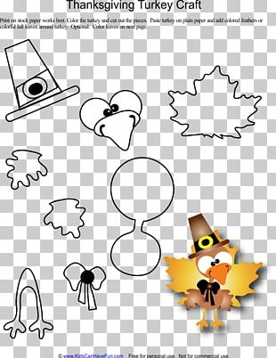 Thanksgiving Paper Turkey Craft Template PNG