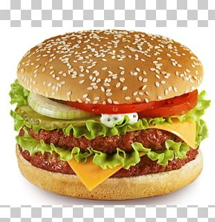 Hamburger Cheeseburger French Fries Veggie Burger Fast Food PNG