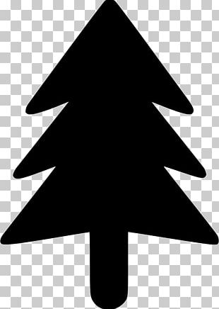 Christmas Tree Black And White PNG