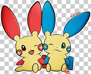 Plusle Minun Art Pokémon Cuteness PNG