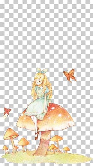 Fairy Tale Cartoon Watercolor Painting Illustration PNG