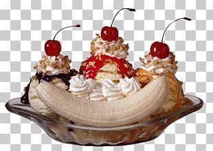 Sundae Ice Cream Cones Banana Split PNG