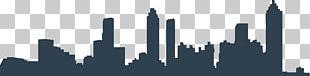 Atlanta Skyline Silhouette Drawing PNG