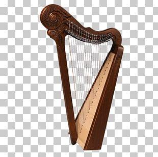 Celtic Harp Lyre Konghou Musical Instruments PNG