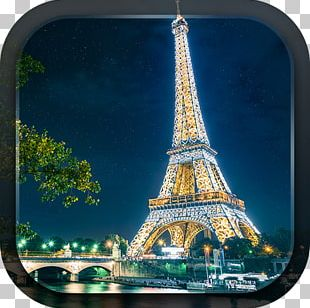 Eiffel Tower Seine Photograph PNG