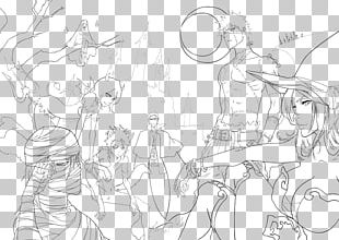 Black And White Line Art Cartoon Sketch PNG