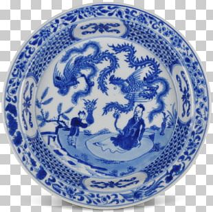 Blue And White Pottery Plate Ceramic Imari Ware Porcelain PNG