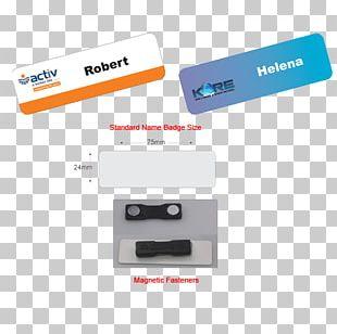 Name Tag Plastic Badge PNG