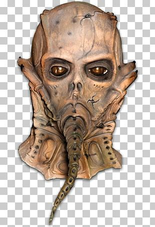 H.R. Giger Alien Latex Mask Halloween Costume PNG
