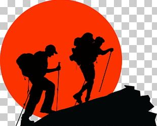 Backpacking Hiking Silhouette PNG