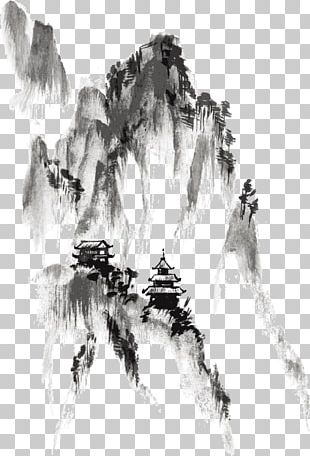 Ink Wash Painting Drawing India Ink PNG