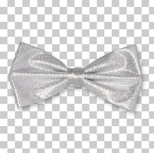 Bow Tie Necktie Silver Polyester Clothing Accessories PNG