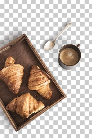 Breakfast Coffee Croissant Cafe Danish Pastry PNG