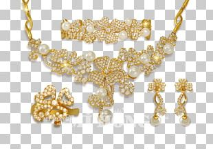 Pearl Body Jewellery Necklace Diamond PNG