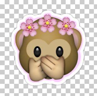 Emoji Sticker Crown Flower PNG